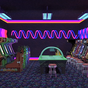 3D Retro Arcade Environment