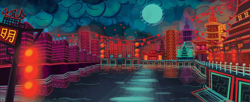 Techno Ming Dynasty Background