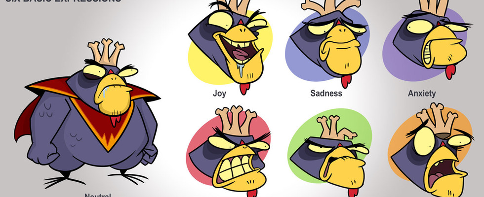 Emperor Chicken Character Expressions
