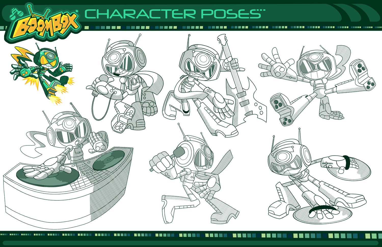 """Boombox"" Character Poses"