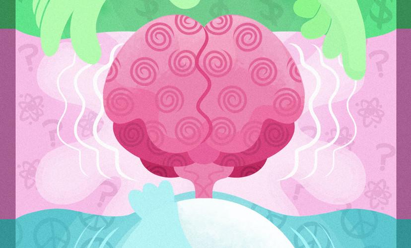 Mindfulness Meditation Editorial Illustration