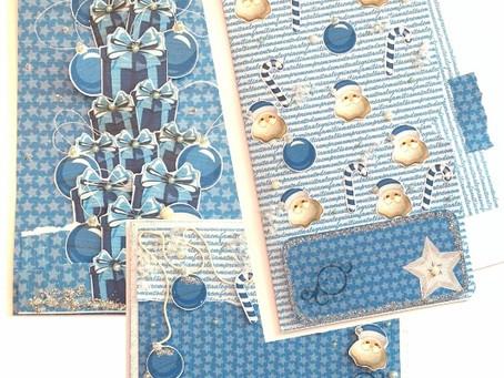"Cartões ""Natal Azul"""