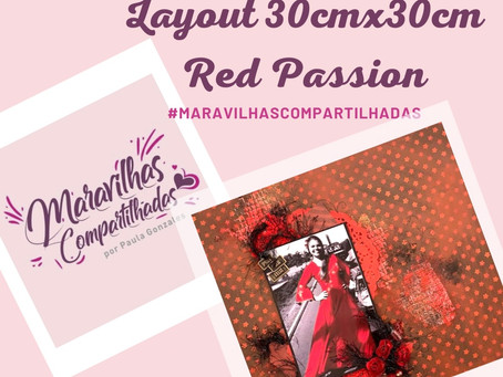 Layout 30cmX30cm Red Passion