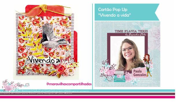 """Cartão Pop Up """"Vivendo a Vida"""""""