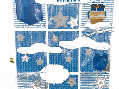 """Pocket Letter """"Natal azul"""""""