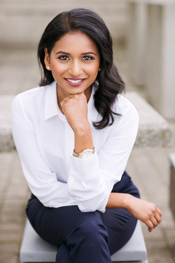Head shot of Ahalya Kethees, a trainer, facilitator, and executive coach and founder of Lead with Brilliance