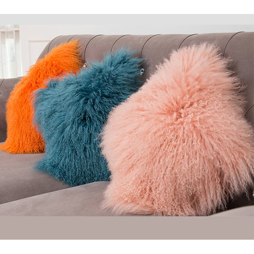DMD04 Mongolian lamb Fur Pillow Cover
