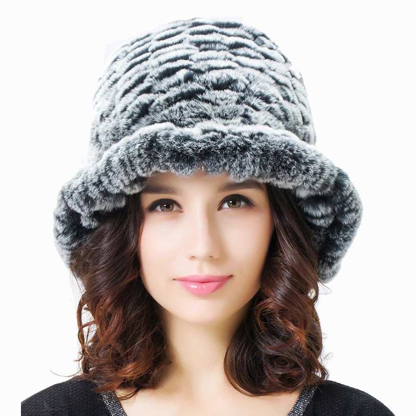 56a789c462f03 Premium knitted Rex Rabbit Fur - Incredibly soft. Rex Rabbit Fur does not  shed. Bucket hat styling. Warm and lightweight. Features a firm brim.  Unlined
