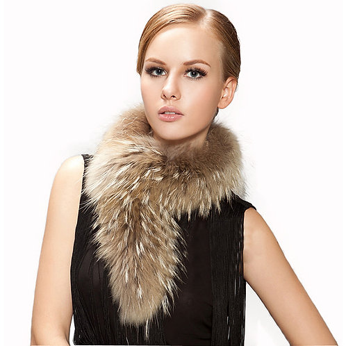 Genuine Raccoon Fur  Neck Scarf