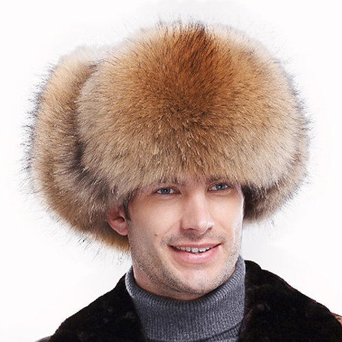 DMC47 Finn Raccoon Fur Trapper Hat