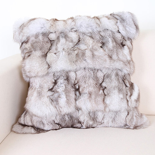 DMD45 PatchWork Natural Color Fox Pillow / Cushion Cover