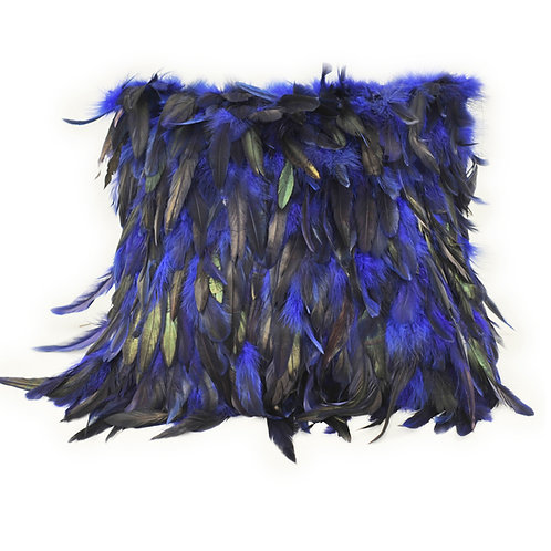 DMD70A Dyed Blue Feather Pillow Cover
