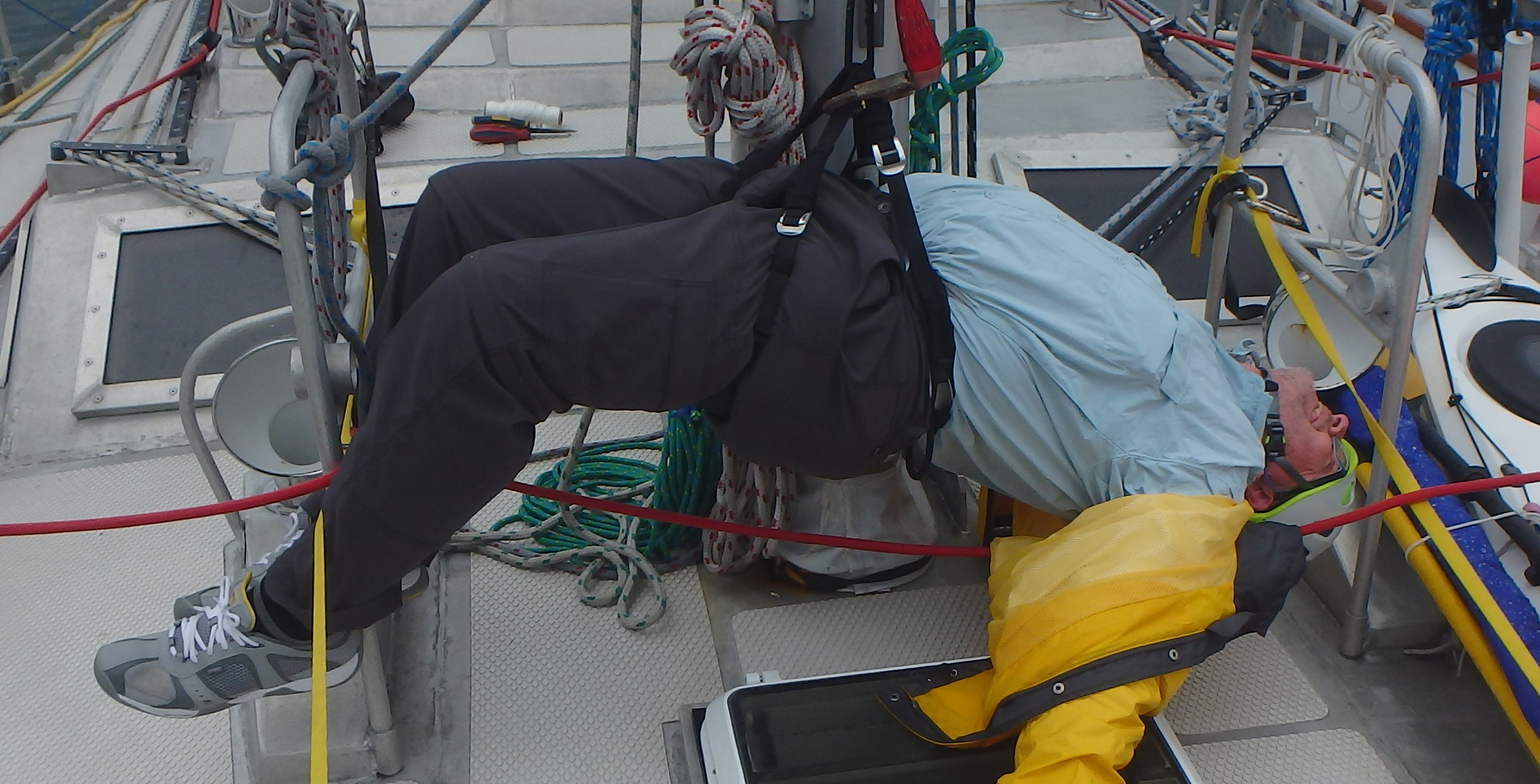 Going Aloft Accident Prevention Voyageur Sailing Boat Wiring Job School Adventures Canada