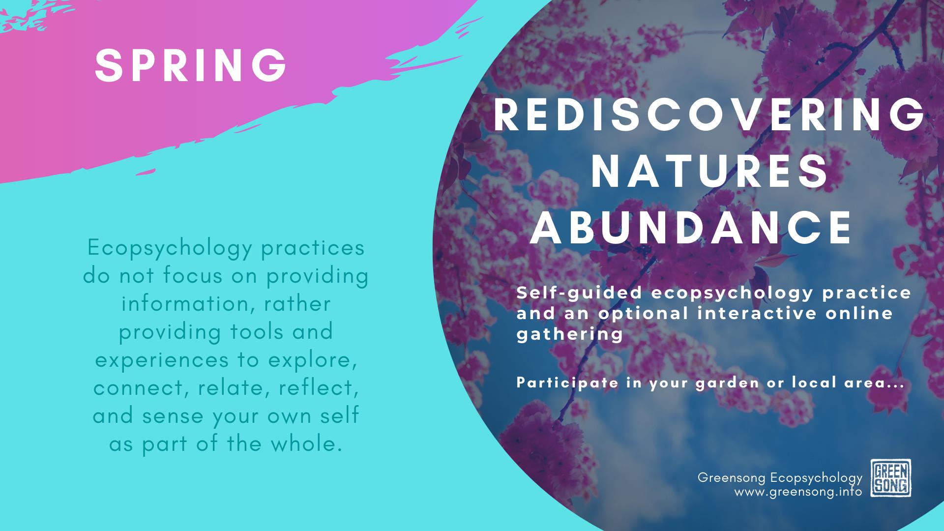 Rediscovering Natures Abundance