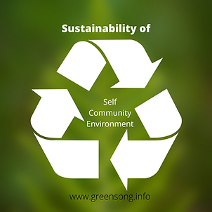 Sustainability of self community enviro.
