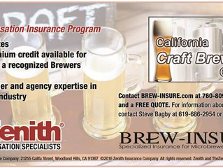BREW-INSURE.com Partners with The Zenith's CA Craft Brewers Work Comp Group!
