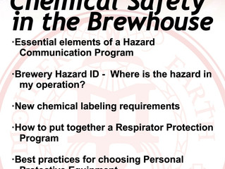 FREE Chemical Safety in the Brewhouse Class @ Mother Earth Brew Co.