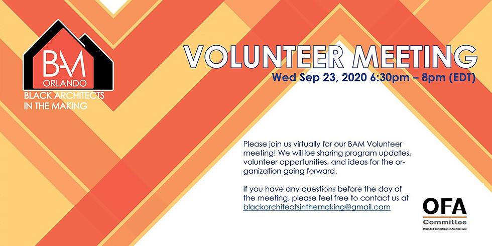 BAM Orlando Volunteer Meeting