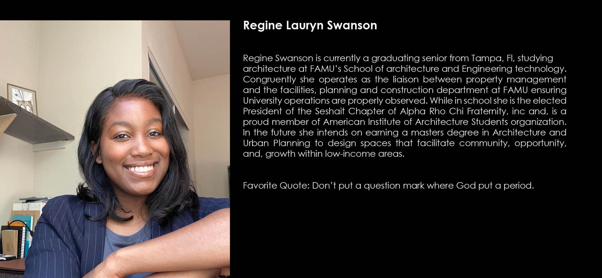 Regine Lauryn Swanson