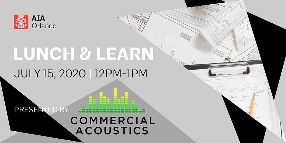 Virtual Lunch & Learn Featuring Commercial Acoustics