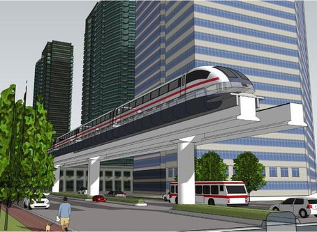 Airport to Convention Center Maglev Monorail gets Real