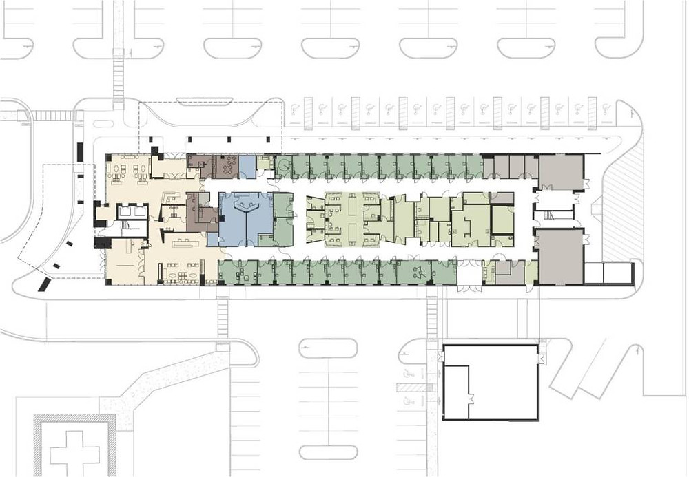 First floor plan, emergency department