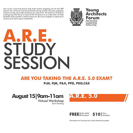 YAF ARE Study Sessions - Flyer - 08-15-2