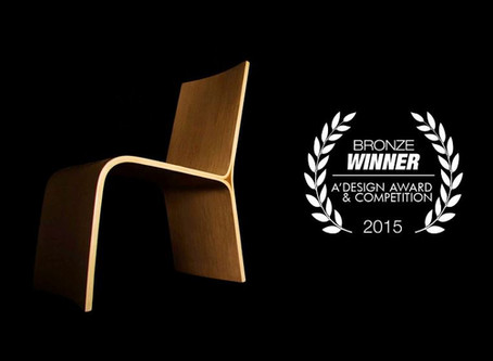 Tangent Chair wins Bronze  from A' Awards