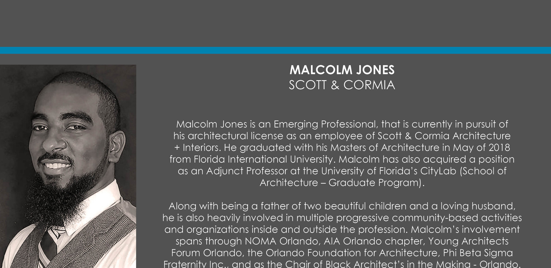 Malcolm Jones, Assoc. AIA