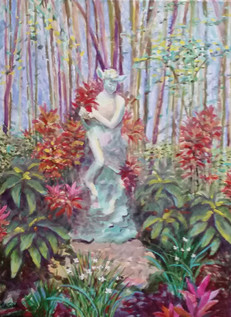 Pan in the Polasek Garden