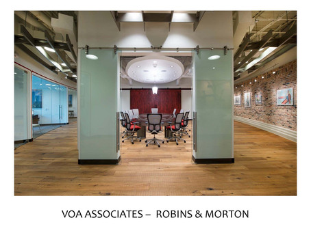Robins & Morton Office Showcase Their Construction Talent