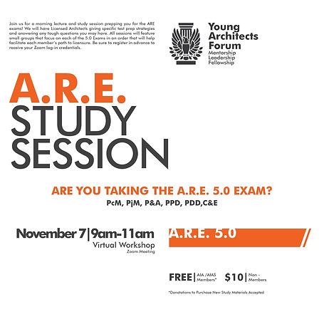 YAF ARE Study Sessions - Flyer - 11-07-2