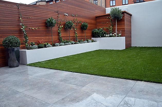 low maintenance modern garden