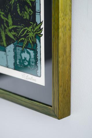 Detail of custom green dye