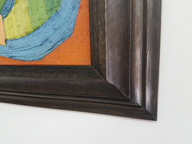 Detail of Custom moulding, hand-made with antique planes