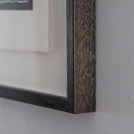 Detail of ebonized box frame.