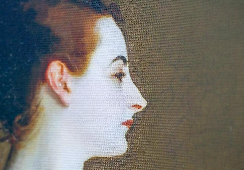 Detail of a print on Hahnemühle Daguerre Canvas 400gsm