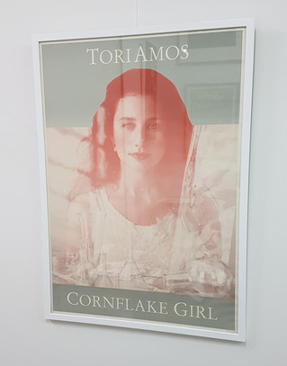 Painted white poster frame