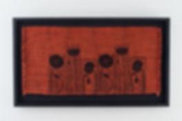 Ebonized frame with black linen backing board