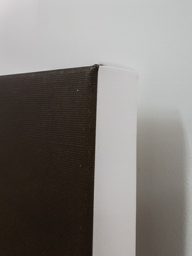 Gallery wrapped corner of stretched canvas
