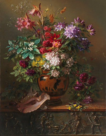 Still Life with Flowers in a Greek Vase: Allegory of Spring