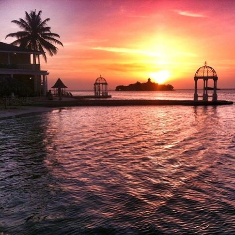 Sunset at Royal Caribbean