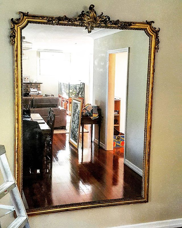 Had the pleasure of hanging this one of a kind Antique French Mirror yesterday afternoon in Brookfie