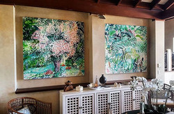 Happy Friday! 😄🍺_These wonderful pieces are hanging in a beautiful property high on the hills in P