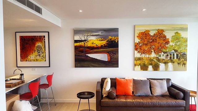 A brand new apartment in Newstead is turned into a wonderful Art Gallery in the time it takes to dri