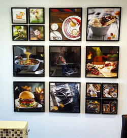 Hanging a small portion of the wonderful photographs by the very talented Nadine _feastphoto!_Whose