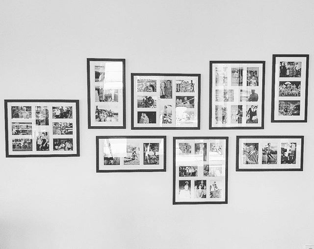The family photo wall masters! _Our client was thrilled with this photo wall today, and she was even