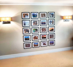 Another fantastic family photo wall bein