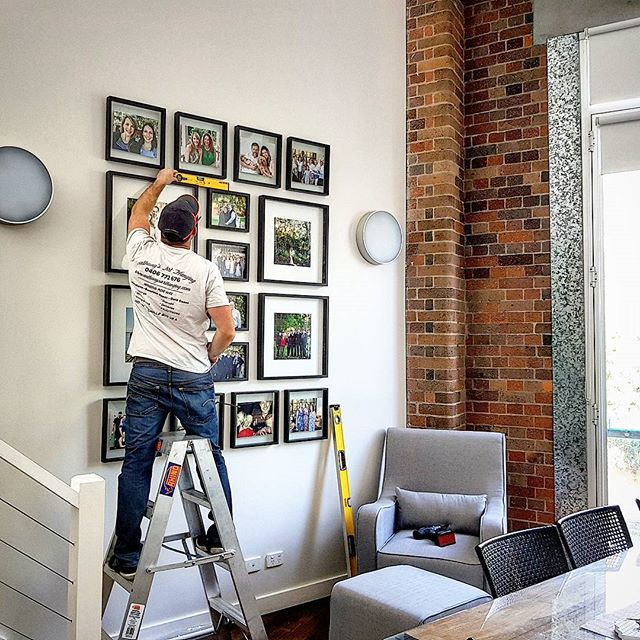 #swipeleft - Having some fun this morning getting this lovely photo wall for _wearetwine, millimetre