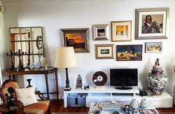 Hanging a fantastic collection of Art in a clients home here on the river in Bulimba